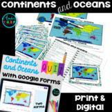 Continents and Oceans Activities Printable & Digital BUNDL