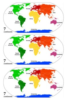 Continents and Oceans Handout Handout