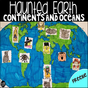 Continents and Oceans- Haunted Earth Craftivity
