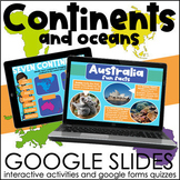 Continents and Oceans   Interactive Google Slides Activities