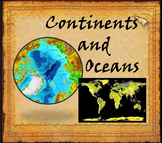 Continents and Oceans Interactive PowerPoint Game Distance