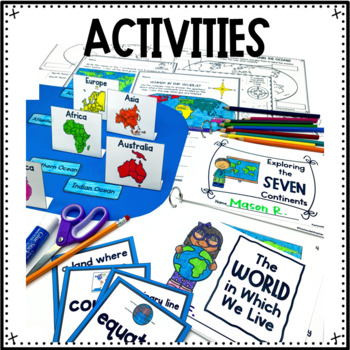 Continents and Oceans Lap Book Unit