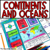 Continents and Oceans Unit Activities and Lap Book