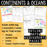 Continents and Oceans: Outline Maps and Assessments ***NEW***