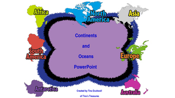 Continents and Oceans PowerPoint Slide Show