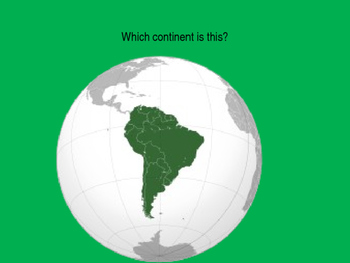 Continents and Oceans Quiz