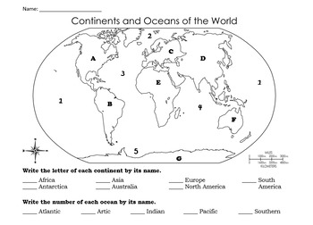 image relating to Continents and Oceans Quiz Printable known as Continents and Oceans Quiz Investigation Specialist