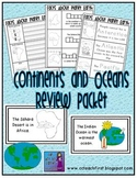 Continents and Oceans Review Packet
