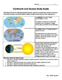 Continents and Oceans Study Guide