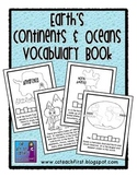 Continents and Oceans Vocabulary Book
