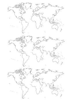 Continents and Oceans Word Search