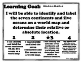 Continents and Oceans Learning Goal, Scale, and Essential