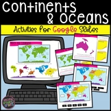 Continents and Oceans Google Slides Digital Resource   Dis