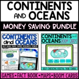 Continents and Oceans mini-unit and BOOM™ cards BUNDLE