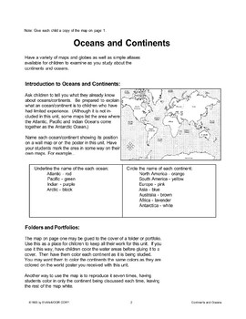 Continents and Oceans of the World
