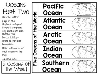 Continents and Oceans of the World ~ Social Studies Interactive Notebook Pack