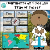 Continents and Oceans of the World: True or False?