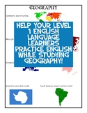 Continents for Level 1 ELL