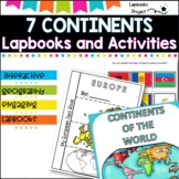 Continents of the World- Lapbooks and additional activities