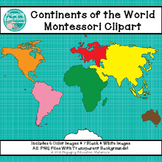 Continents of the World Montessori Clipart