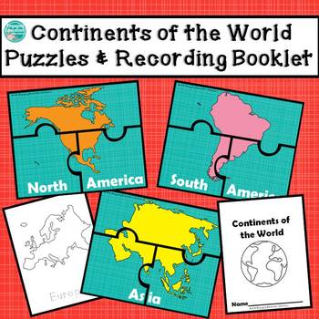 Continents of the World Puzzles & Recording Booklets