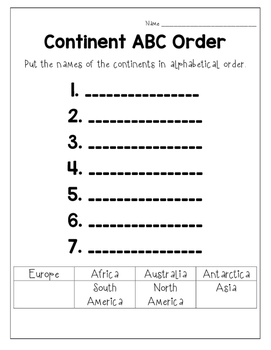 Continent Poster Set of 7 - Simple and Clean
