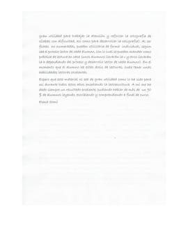 Continuación carta de presentación material de lectura