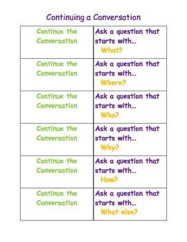 Continue A Conversation Card SET