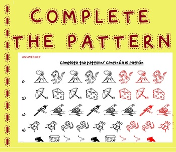 Continue/ Complete the Pattern