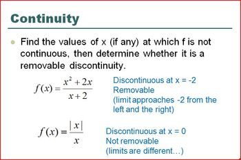 Continuity Defined PP