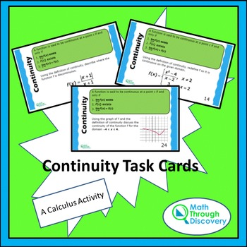 Continuity Task Cards
