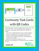 Continuity Task Cards with QR Codes