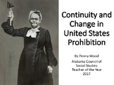 Continuity and Change US Prohibition