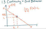 Continuity and End Behavior