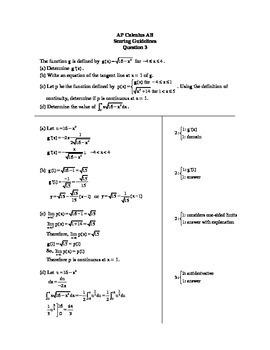 Continuity and Limits AP Question