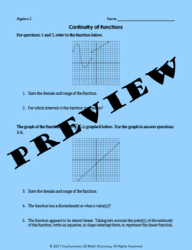 Continuity of Functions Practice