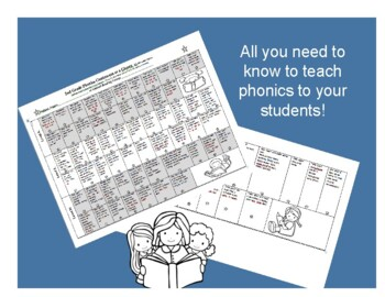 Continuum of Phonics  at a Glance Second Grade