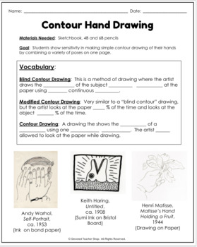 Contour Drawing Mini Lesson