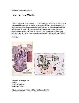 Contour Ink Wash