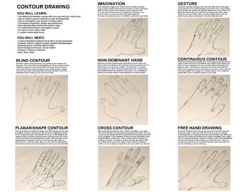 Contour Line Drawing Hands