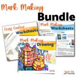 Contour Line Drawing Mark Making Art Lesson Bundle Middle