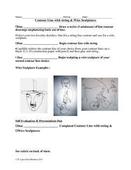 Contour Line-string and wire outline with examples