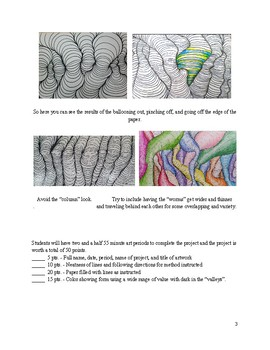 Contour Lines Optical Illusion Drawing