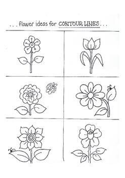 Contour Lines SAMPLE flower ideas