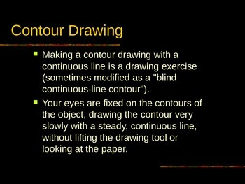 Contour and Gesture Drawing