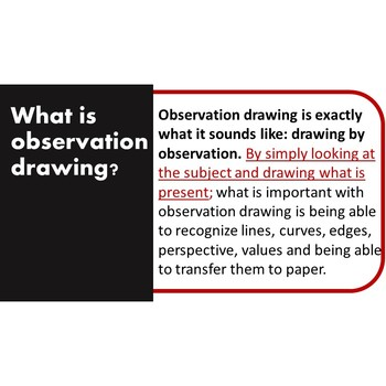 Contour and Observation Drawing