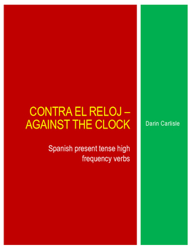 Contra el reloj - Against the clock Spanish verbs high fre