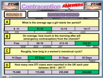 Sex Education contraception and Relationships Lesson