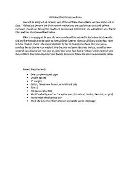 Contraceptive Persuasive Essay
