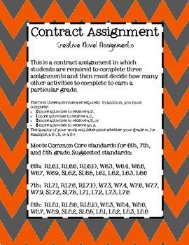 Contract Assignment {Novel Activities}